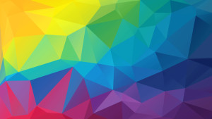 Multi-colored geometric background